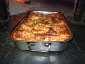 Lasagna forno legna