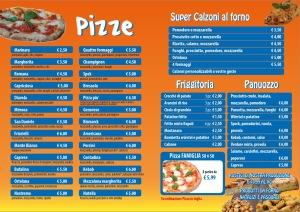 menu Pizze, Friggitoria, Super Calzoni,Panuozzo, Pizza Famiglia 50x50 domicilio Benevento