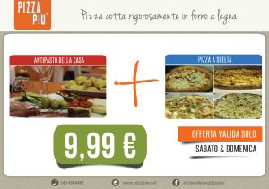 € 9,99 pizza più antipasto e pizza sabato e domenica sala interna benevento