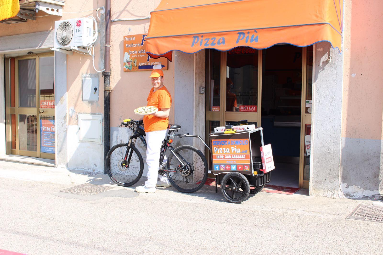 pizza domicilio Benevento bici elettrica